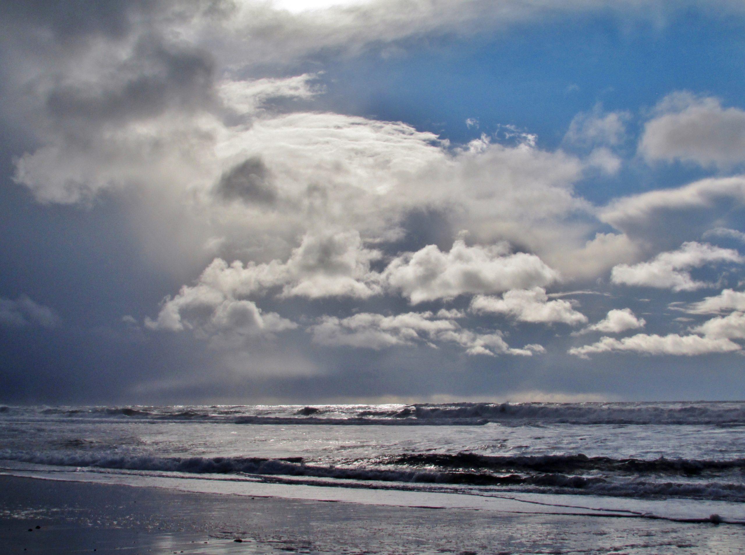 Storm on the horizon photos Lincolon City, Oregon